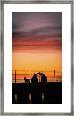 22nd St Sunset Framed Print