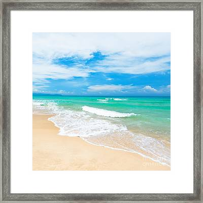 Beach Framed Print by MotHaiBaPhoto Prints