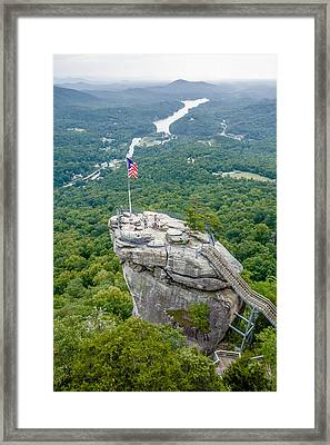 Lake Lure And Chimney Rock Landscapes Framed Print