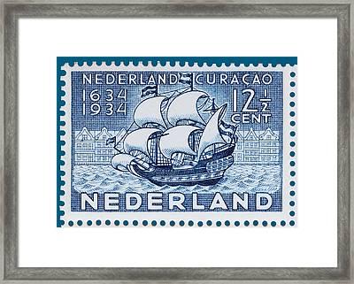 Old Dutch Postage Stamp Framed Print by James Hill