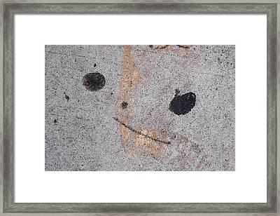 Wall Face 15 Framed Print