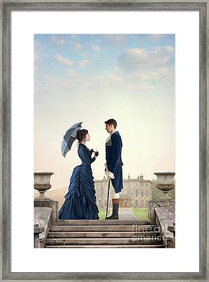 Framed Print featuring the photograph Victorian Couple  by Lee Avison