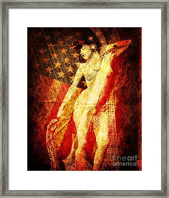 Winsome Woman Framed Print by Chris Andruskiewicz