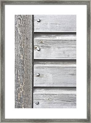 Wooden Background Framed Print
