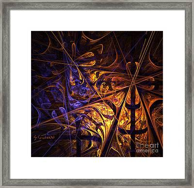 232-digital Print Framed Print by Silvia Giussani