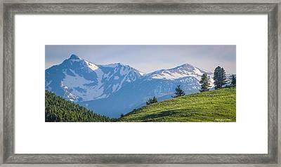 #238 - Spanish Peaks, Southwest Montana Framed Print
