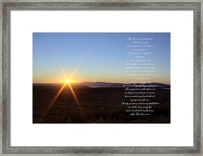 Framed Print featuring the photograph 23rd Psalm by Greg DeBeck