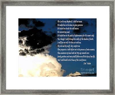 23rd Psalm Framed Print by Methune Hively