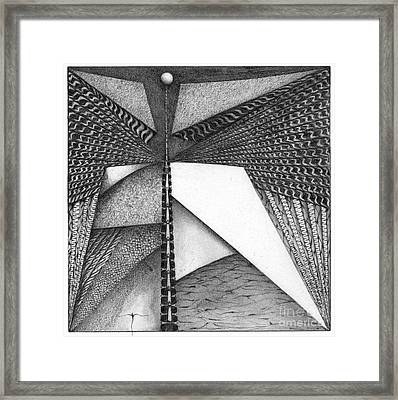 Framed Print featuring the drawing Enoch by James Lanigan Thompson MFA