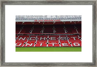 England - Sir Alex Fergusson Stand Manchester United Framed Print