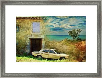 24 Hr Parking By The Beach Framed Print
