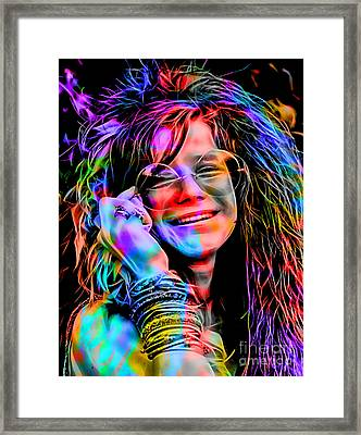 Janis Joplin Collection Framed Print by Marvin Blaine