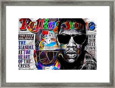 Jay Z Collection Framed Print