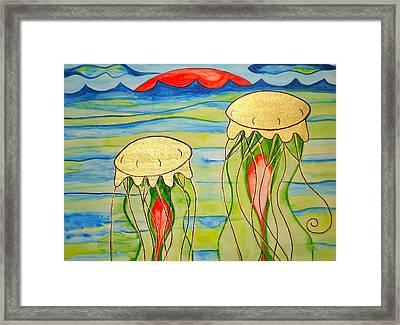 Framed Print featuring the painting 24-karat Jellies by Erika Swartzkopf