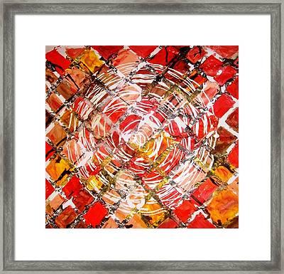 Life In Circle Framed Print by Baljit Chadha