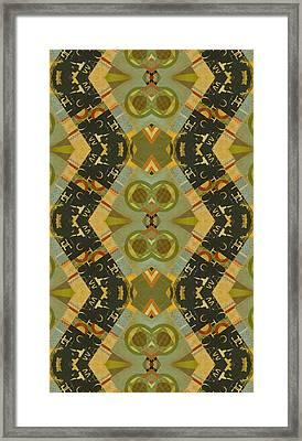 Pattern And Optics Art Framed Print