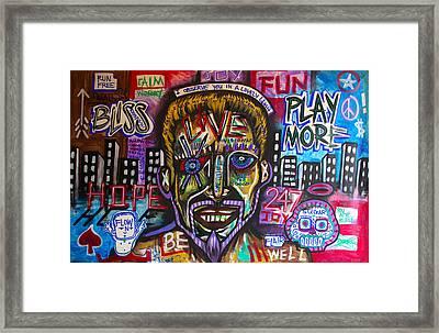24 Seven Joy Framed Print by Wall  Street