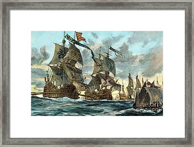 Spanish Armada (1588) Framed Print by Granger