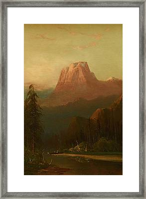 Schafer Oil On Board, Framed Print