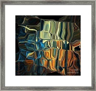 241-digital Crystals Framed Print by Silvia Giussani