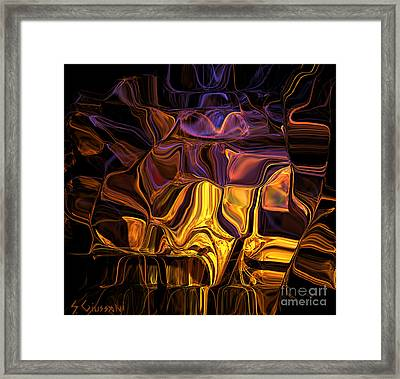 242-digital Crystals Framed Print by Silvia Giussani