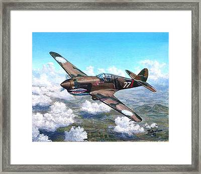 Flying Tiger Over China Framed Print by Scott Robertson