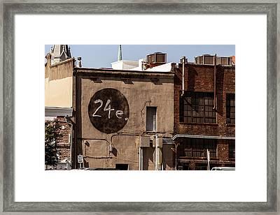 24e Downtown Savannah Framed Print by Gestalt Imagery