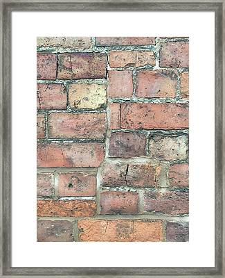 Brick Wall Framed Print by Tom Gowanlock