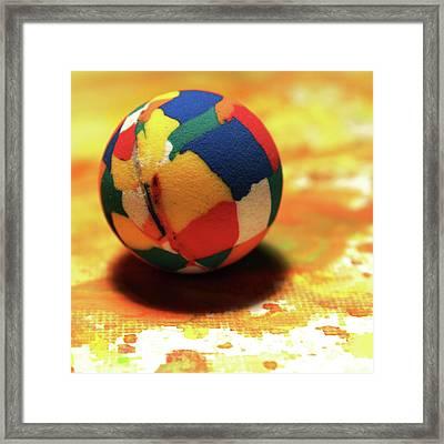 25 Cent Ball Framed Print