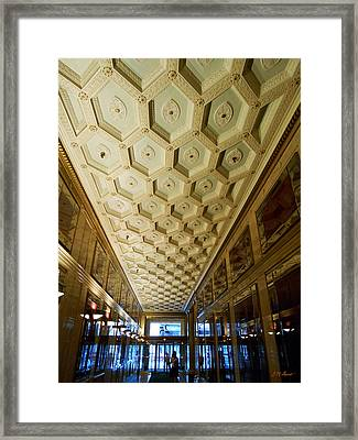 25 E. Washington Building Lobby In Chicago Framed Print by Michael Durst