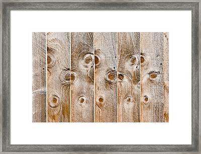 Fence Panels Framed Print