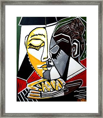 Picasso By Nora Fingers Framed Print