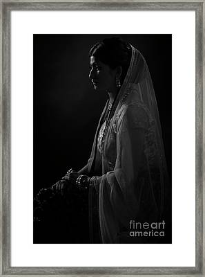 Portrait Of Indian Lady Framed Print
