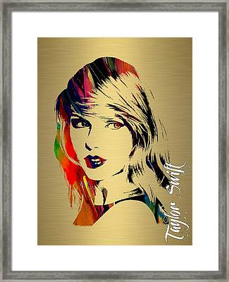 Taylor Swift Collection Framed Print by Marvin Blaine