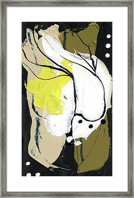 Three Color Palette Framed Print by Michal Mitak Mahgerefteh