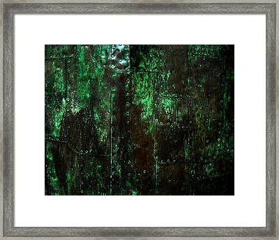 2525 Ad Copper Wall 01 Framed Print by Nilla Haluska