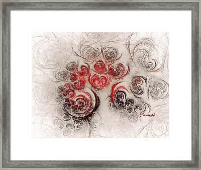254-garden Of Roses Framed Print