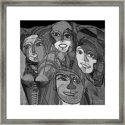 256  Nice People A Framed Print