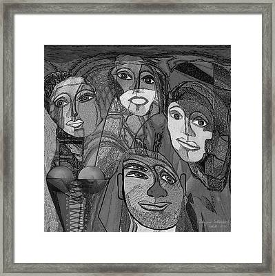 256 - Nice People Framed Print by Irmgard Schoendorf Welch