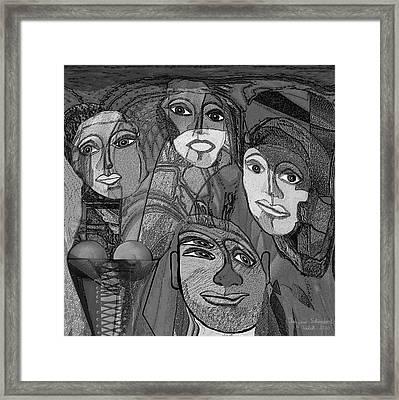 256 - Nice People Framed Print