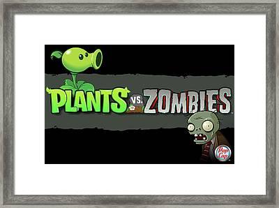 25760 Video Games Plants Vs Zombies  Framed Print