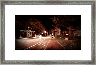 25a East Bound Framed Print by Michael Simeone