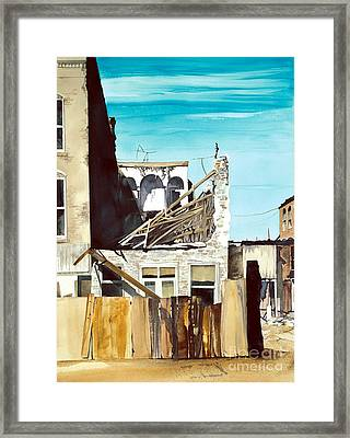25th. Street Framed Print