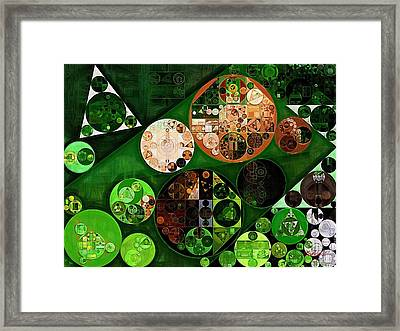 Abstract Painting - Dark Jungle Green Framed Print