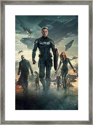Captain America Civil War 2016 Framed Print by Unknown