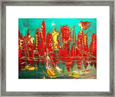 City Framed Print by Mark Kazav