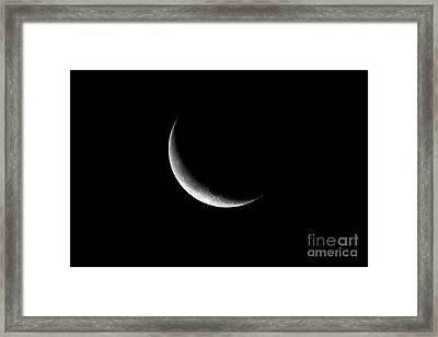 26 Day Old Waning Crescent Moon 14 Per Cent Visible Framed Print