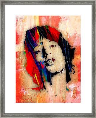 Mick Jagger Collection Framed Print