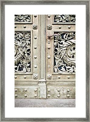 Old Door Framed Print by Tom Gowanlock