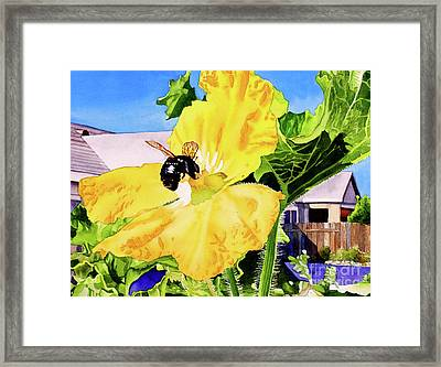 #261 Bumble Bee Framed Print by William Lum